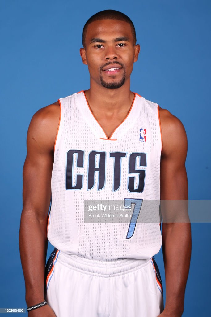 Ramon Sessions #7 of the Charlotte Bobcats poses for media day at the Time Warner Cable Arena on September 20, 2013 in Charlotte, North Carolina.