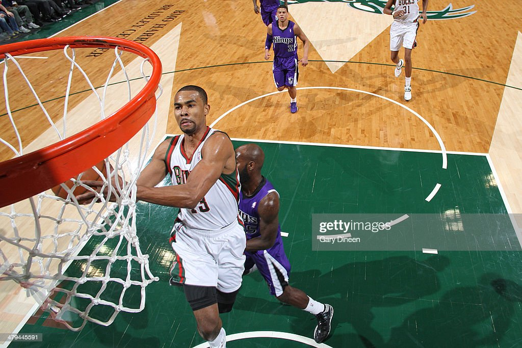 <a gi-track='captionPersonalityLinkClicked' href=/galleries/search?phrase=Ramon+Sessions&family=editorial&specificpeople=805440 ng-click='$event.stopPropagation()'>Ramon Sessions</a> #13 of the Milwaukee Bucks goes up for a shot against the Sacramento Kings on March 5, 2014 at the BMO Harris Bradley Center in Milwaukee, Wisconsin.