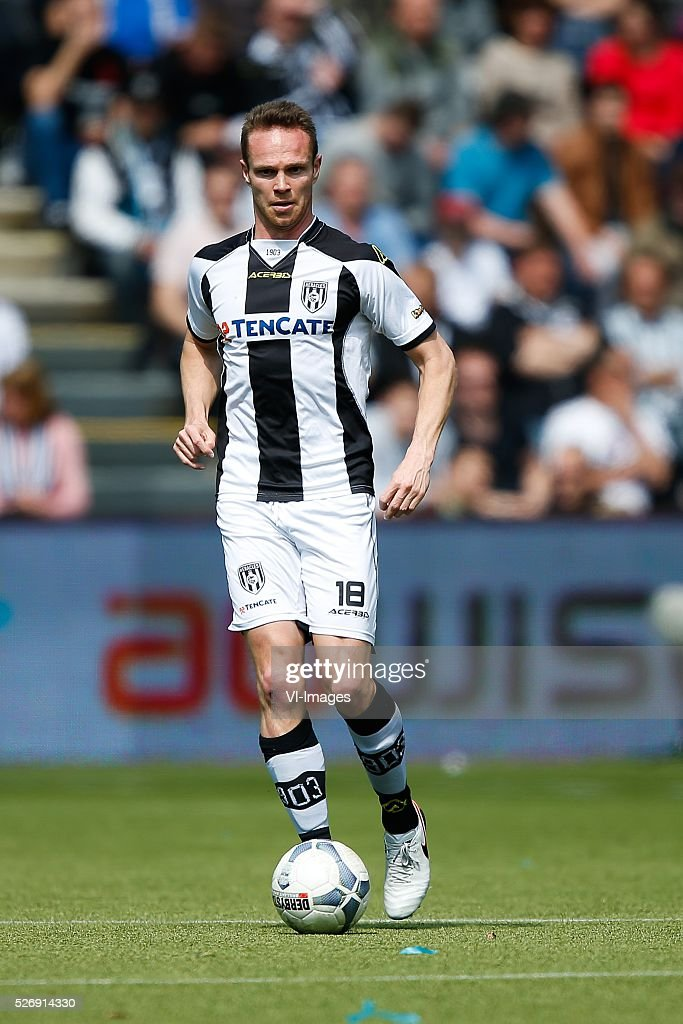 Ramon Zomer of Heracles Almelo during the Dutch Eredivisie match between Heracles Almelo and ADO Den Haag at Polman stadium on May 01, 2016 in Almelo, The Netherlands