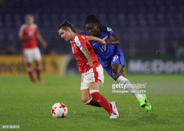Ramona Bachmann of Switzerland gets away from Griedge M'Bock Bathy of France during the UEFA Women's Euro 2017 Group C match between Switzerland and...