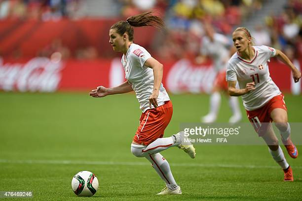 Ramona Bachmann of Switzerland in action during the FIFA Women's World Cup 2015 Group C match between Japan and Switzerland at BC Place Stadium on...