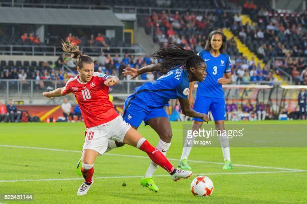 Ramona Bachmann of Switzerland women Griedge Mbock Bathy Nka of France women Wendie Renard of France women during the UEFA WEURO 2017 Group C group...