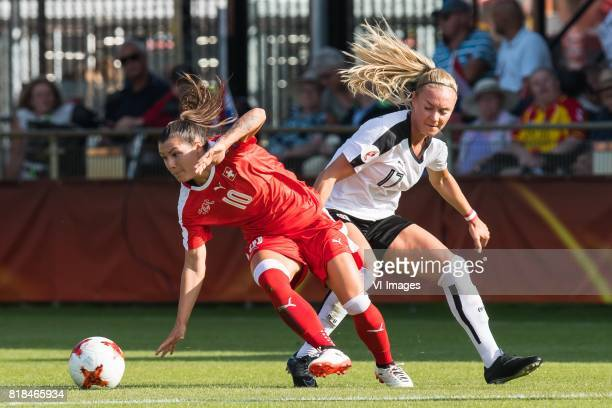 Ramona Bachmann of Switzerland women Sarah Puntigam of Austria women during the UEFA WEURO 2017 Group C group stage match between Austria and...