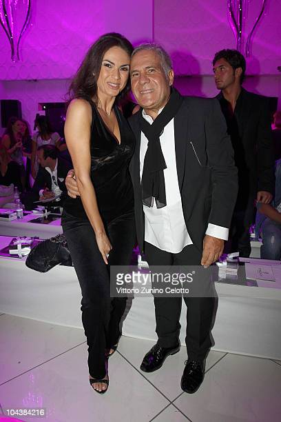 Ramona Badescu and Carlo Pignatelli attend the Seduzioni Diamonds Spring/Summer 2011 fashion show during Milan Fashion Week on September 23 2010 in...