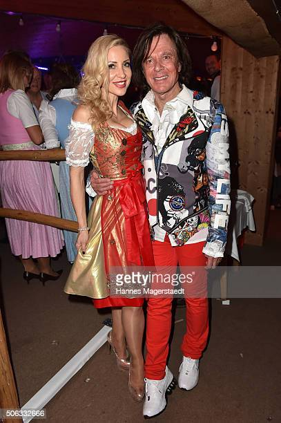 Ramona Drews and Juergen Drews during the Weisswurstparty at Hotel Stanglwirt on January 22 2016 in Going Austria