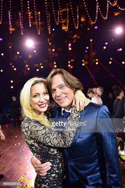 Ramona Drews and Juergen Drews pose after the final show of the television competition 'Stepping Out' on October 16 2015 in Cologne Germany