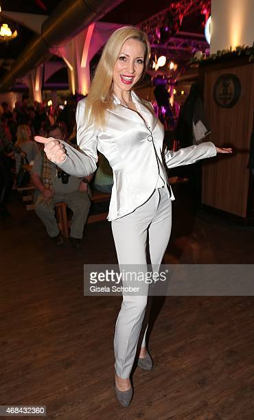 Ramona Drews during Juergen Drews' 70th Birthday Party at Hofbraeuhaus on April 02 2015 in Berlin Germany