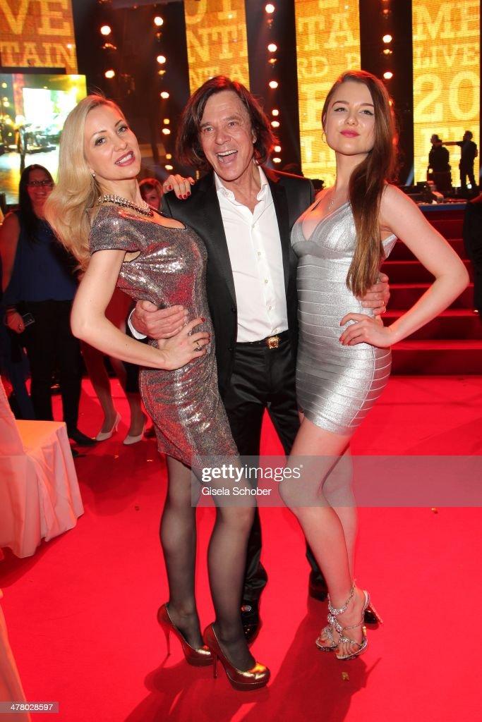 Ramona Drews husband Juergen Drews with daughter Joelina Drews attend the LEA Live Entertainment Award 2014 at Festhalle Frankfurt on March 11 2014...
