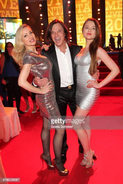 Ramona Drews husband Juergen Drews with daughter Joelina Drews attend the LEA Live Entertainment Award 2014 at Festhalle Frankfurt on March 11 2014...