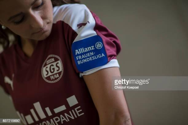 Ramona Petzelberger during a general view behind the scenes of the Allianz Frauen Bundesliga Club Tour of of SGS Essen at Zeche Zollverein on August...