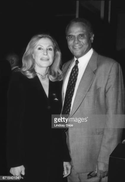 Ramona Ripston Executive Director of the ACLU of Southern California and activist and entertainer Harry Belafonte pause for a photograph together at...