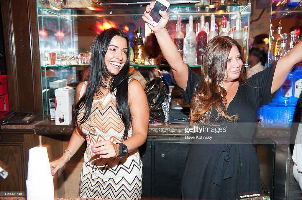 Ramona Rizzo and Karen Gravano at Drunken Monkey on July 22, 2012 in New York City.
