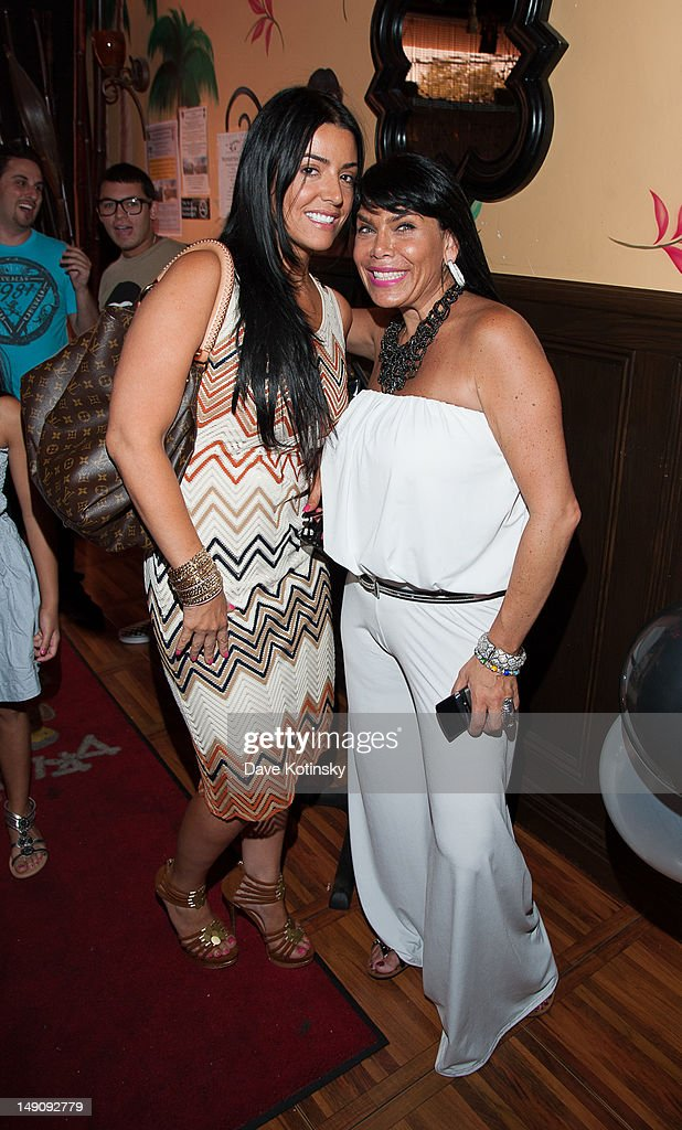 Ramona Rizzo and <a gi-track='captionPersonalityLinkClicked' href=/galleries/search?phrase=Renee+Graziano&family=editorial&specificpeople=7643222 ng-click='$event.stopPropagation()'>Renee Graziano</a> at Drunken Monkey on July 22, 2012 in New York City.