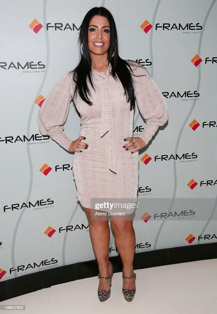 Ramona Rizzo attends VH1's 'Mobwives' Season 3 Premiere Viewing Party at Frames Bowling Lounge on January 6, 2013 in New York City.