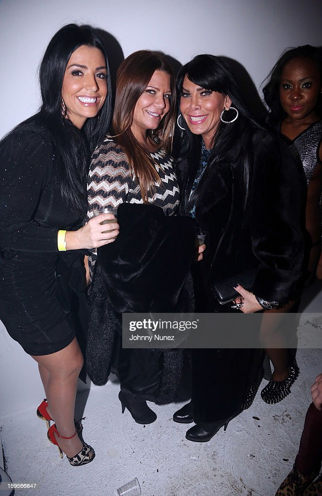 Ramona Rizzo, Karen Gravano, and <a gi-track='captionPersonalityLinkClicked' href=/galleries/search?phrase=Renee+Graziano&family=editorial&specificpeople=7643222 ng-click='$event.stopPropagation()'>Renee Graziano</a> attend A$AP Rocky's 'LOVE.LIVE.A$AP' Album Release Party at The Hole on January 15, 2013 in New York City.