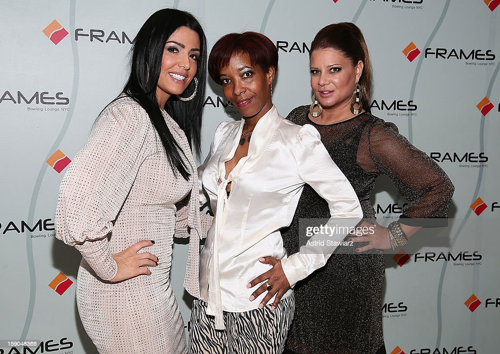 Ramona Rizzo, Sibrena Stowe and Karen Gravano attend VH1's 'Mobwives' Season 3 Premiere Viewing Party at Frames Bowling Lounge on January 6, 2013 in New York City.