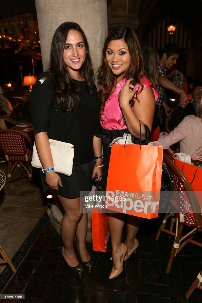 Ramona Saviss (L) and Jennifer Chen attend the SUPERDRY intimate dinner in celebration of the brand's Autumn/Winter 2013 Collection at Chateau Marmont on August 15, 2013 in Los Angeles, California.