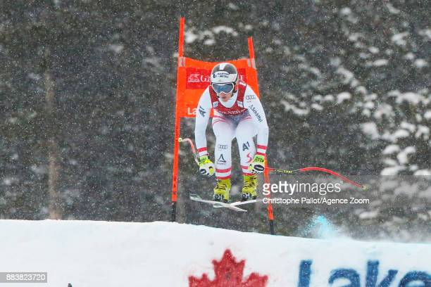 Ramona Siebenhofer of Austria competes during the Audi FIS Alpine Ski World Cup Women's Downhill on December 1 2017 in Lake Louise Canada