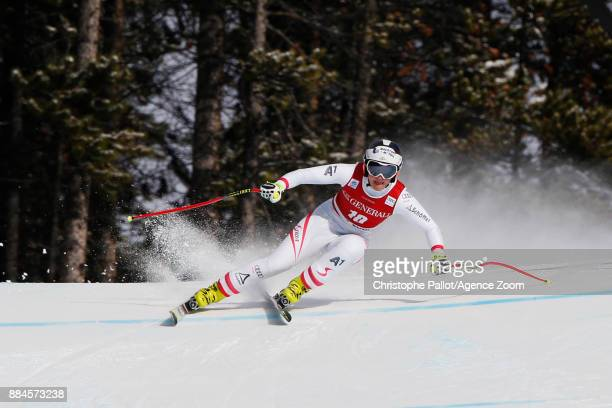 Ramona Siebenhofer of Austria competes during the Audi FIS Alpine Ski World Cup Women's Downhill on December 2 2017 in Lake Louise Canada