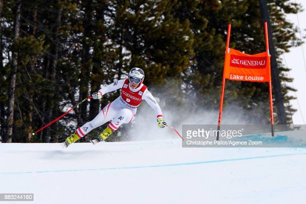 Ramona Siebenhofer of Austria in action during the Audi FIS Alpine Ski World Cup Women's Downhill Training on November 30 2017 in Lake Louise Canada