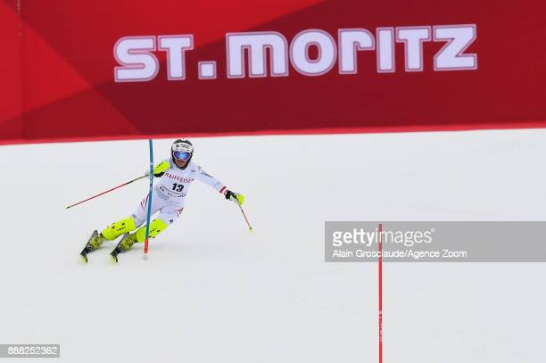 Ramona Siebenhofer of Austria in action during the Audi FIS Alpine Ski World Cup Women's Combined on December 8 2017 in St Moritz Switzerland