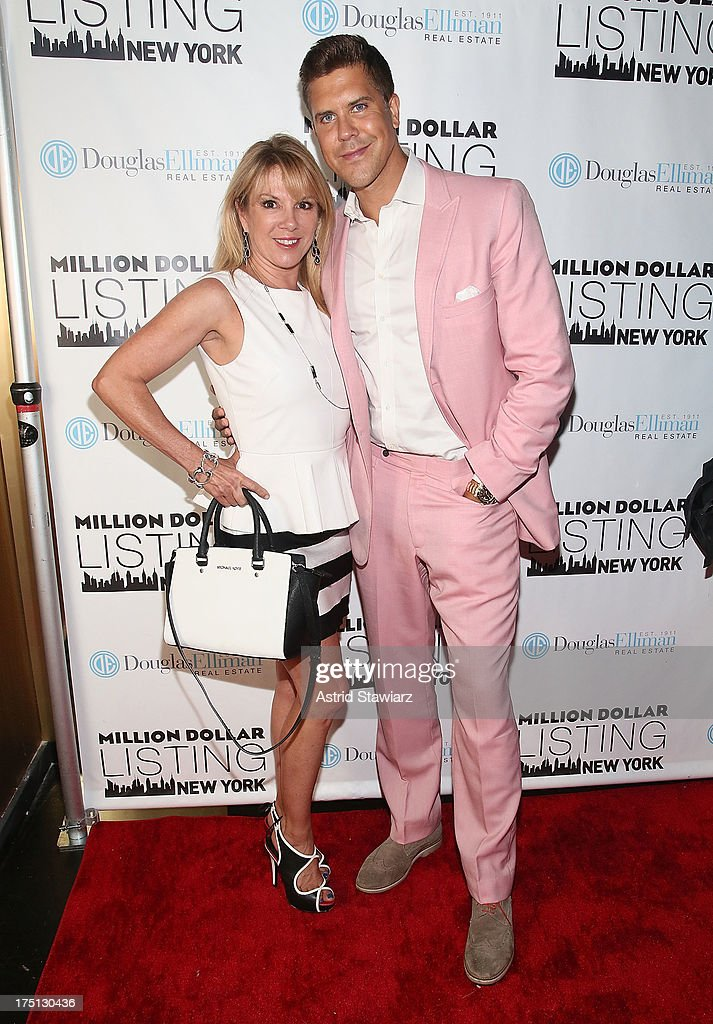Ramona Singer and Fredrik Eklund attend 'Million Dollar Listing' Season 2 Finale Party at The General on July 31, 2013 in New York City.