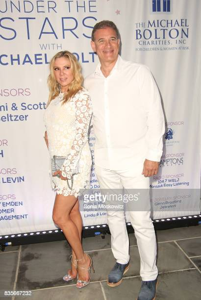 Ramona Singer and guest attend an Intimate Evening Under the Stars with Michael Bolton benefiting The Michael Bolton Charities at Private Residence...