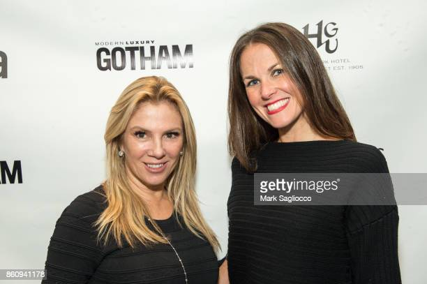 Ramona Singer and Kelly O'Connor attend the Alfa Development Launch Celebration on October 12 2017 in New York City
