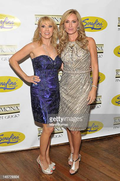 Ramona Singer and Sonja Morgan attend 'The Real Housewives of New York City' season 5 premiere viewing party on June 4 2012 in New York City