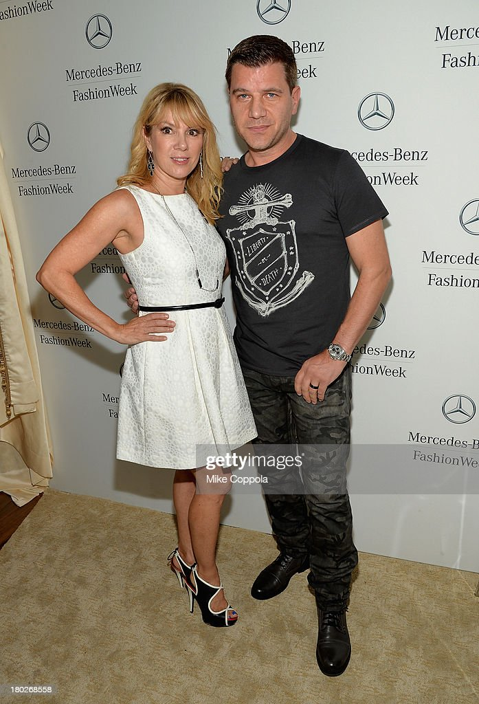 <a gi-track='captionPersonalityLinkClicked' href=/galleries/search?phrase=Ramona+Singer&family=editorial&specificpeople=4949817 ng-click='$event.stopPropagation()'>Ramona Singer</a> and <a gi-track='captionPersonalityLinkClicked' href=/galleries/search?phrase=Tom+Murro&family=editorial&specificpeople=7075780 ng-click='$event.stopPropagation()'>Tom Murro</a> attend the Mercedes-Benz Star Lounge during Mercedes-Benz Fashion Week Spring 2014 on September 10, 2013 in New York City.