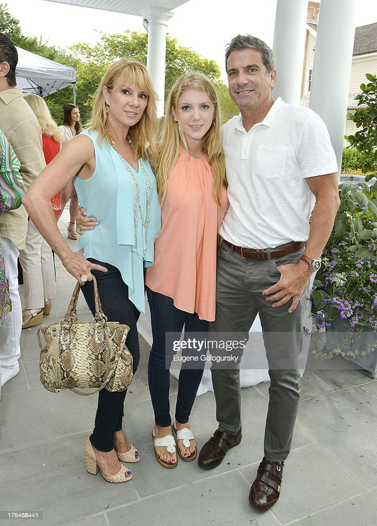 <a gi-track='captionPersonalityLinkClicked' href=/galleries/search?phrase=Ramona+Singer&family=editorial&specificpeople=4949817 ng-click='$event.stopPropagation()'>Ramona Singer</a>, April Singer and Mario Singer attend the Hamptons Magazine Celebrates With Cover Stars, Jonathan Adler And Simon Doonan at Day Lily Estate on August 3, 2013 in Bridgehampton, New York.
