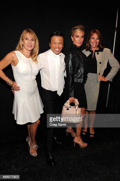 Ramona Singer designer Zang Toi Sonja Morgan and Jill Zarin attend the Zang Toi fashion show during MercedesBenz Fashion Week Spring 2015 at The...