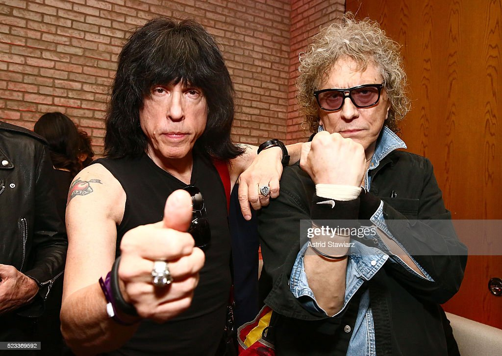 Ramones drummer Marky Ramone and photographer Mick Rock attend SHOT! The Psycho-Spiritual Mantra of Rock - After Party - 2016 Tribeca Film Festival on April 22, 2016 in New York City.