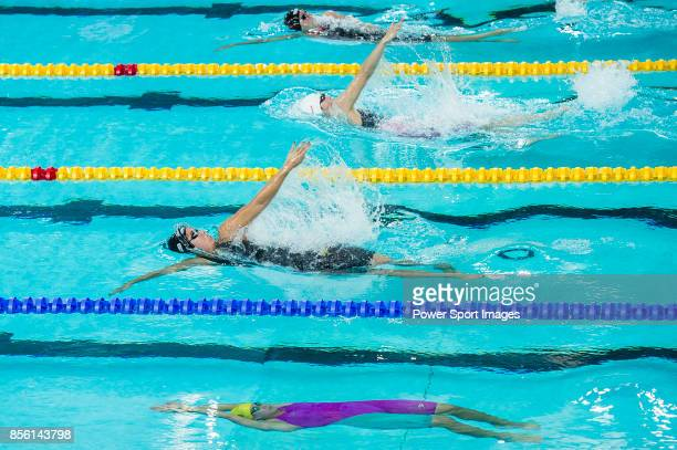 Ramoni Kromowidjojo of the Netherlands during the FINA Swimming World Cup Women's 100m Backstroke Heat 2 on October 01 2017 in Hong Kong Hong Kong