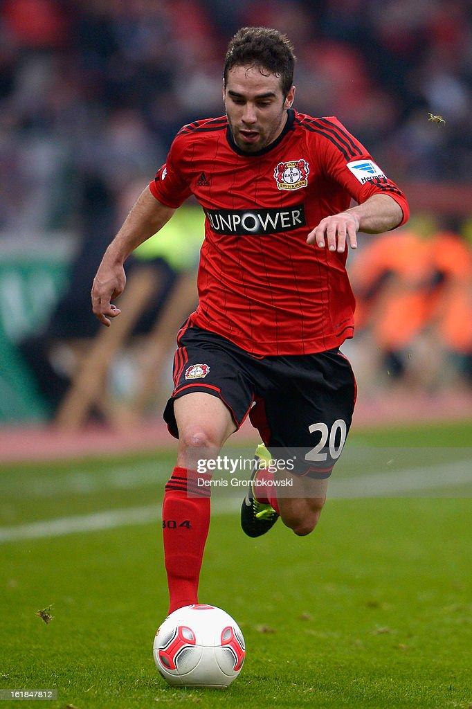 Ramos Carvajal of Leverkusen controls the ball during the Bundesliga match between Bayer 04 Leverkusen and FC Augsburg at BayArena on February 16, 2013 in Leverkusen, Germany.