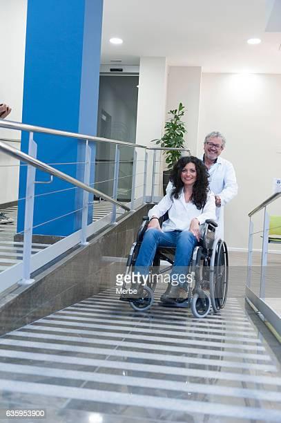 Ramp in a hospital