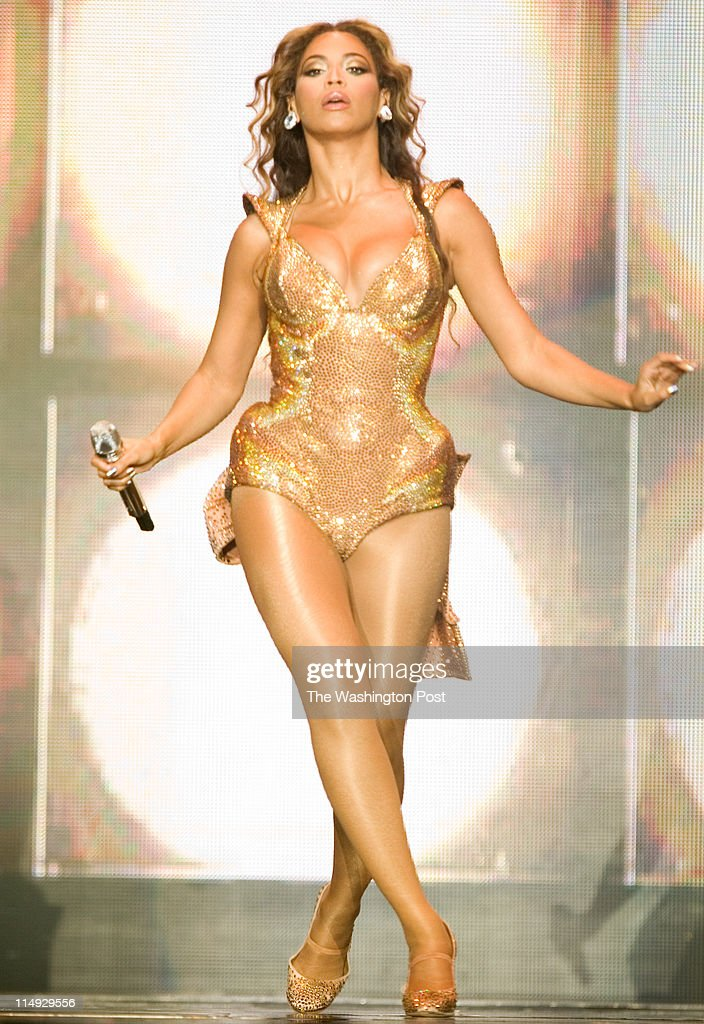 RampB singer Beyonce Knowles performs live at the Verizon center in Washington DC on Wednesday June 24 2009