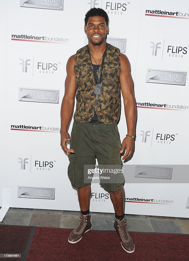Ramses Barden arrives at the Matt Leinart Foundation's 7th Annual 'Celebrity Bowl' at Lucky Strike Bowling Alley on July 18, 2013 in Hollywood, California.