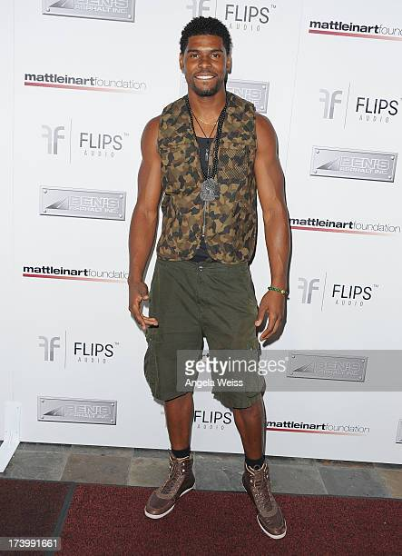 Ramses Barden arrives at the Matt Leinart Foundation's 7th Annual 'Celebrity Bowl' at Lucky Strike Bowling Alley on July 18 2013 in Hollywood...