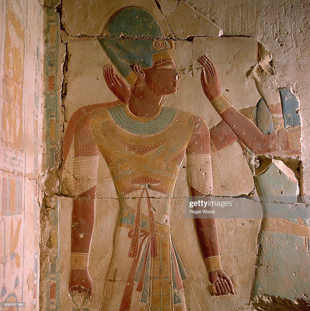 Ramses II in War Dress, Abydos, Egypt