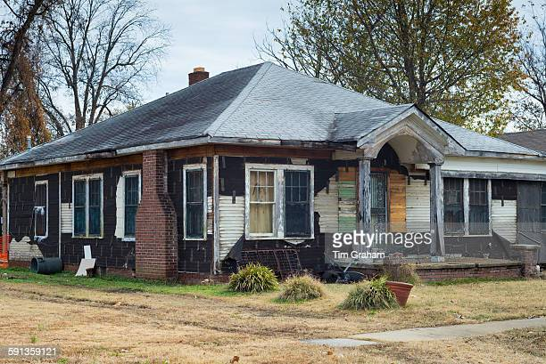 Ramshackle rundown Delta home in Clarksdale birthplace of the Blues Mississippi USA