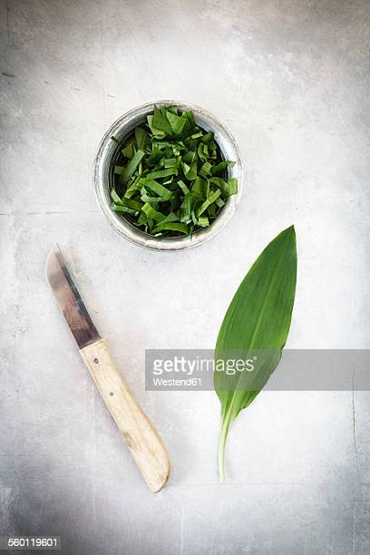 Ramson leaf and chopped ramson