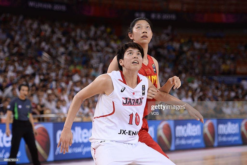 Ramu Tokashiki #10 of Japan and Hongpin Huang #15 of China react in ...