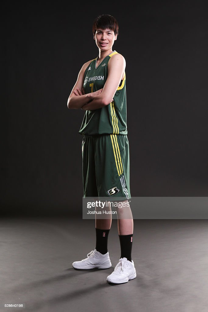 Ramu Tokashiki #7 of the Seattle Storm poses for a photo during media ...