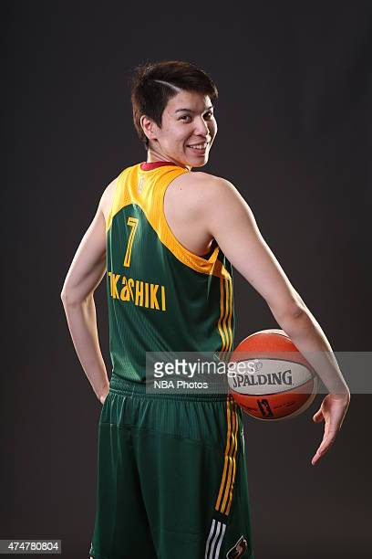 Ramu Tokashiki of the Seattle Storm poses for WNBA Media Day on May 23 2015 at Key Arena in Seattle Washington NOTE TO USER User expressly...