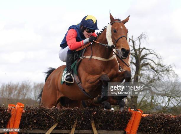Ramvaswani ridden by Alex Merriam in the the Ladbrokes OddsOn Loyalty Card Conditional Jockeys' Handicap Hurdle race