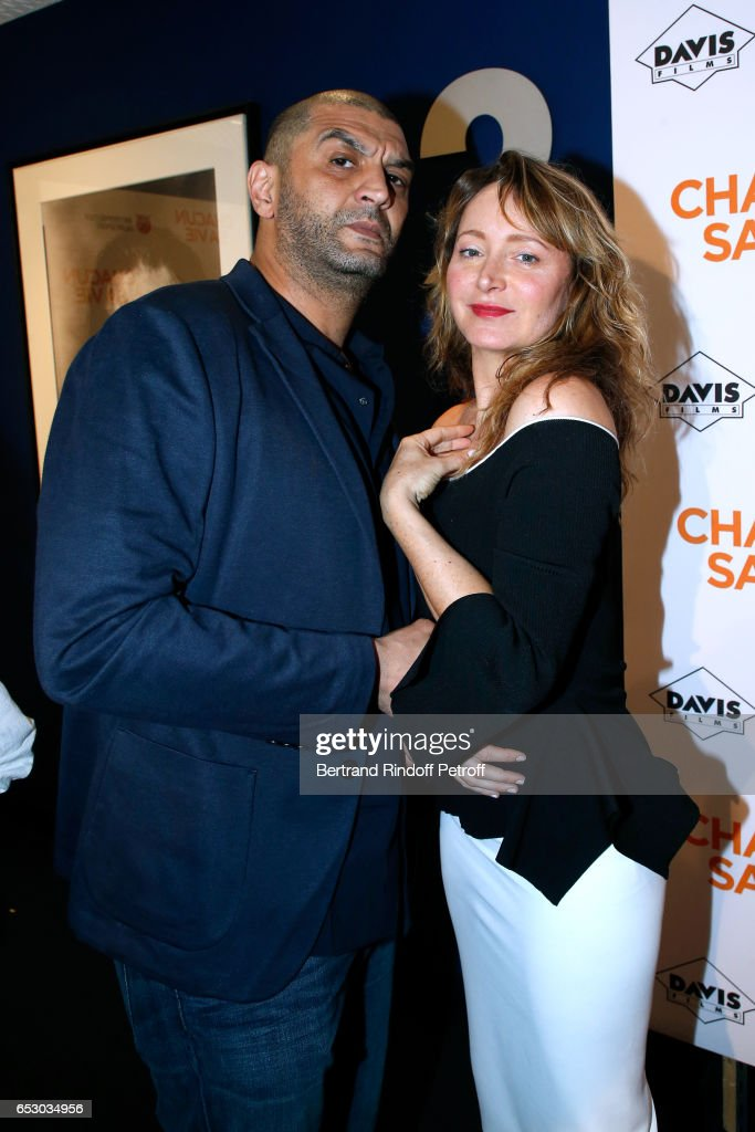 Ramzy Bedia and Julie Ferrier attend the 'Chacun sa vie' Paris Premiere at Cinema UGC Normandie on March 13, 2017 in Paris, France.