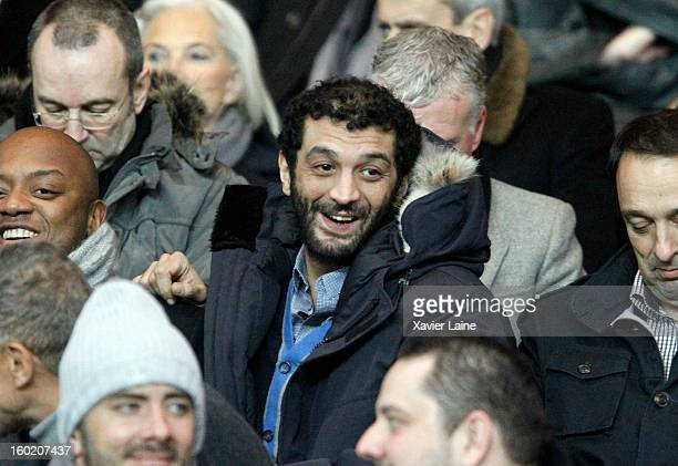 Ramzy Bedia attends the French League one between Paris SaintGermain FC and Lille LOSC at Parc des Princes on January 27 2013 in Paris France