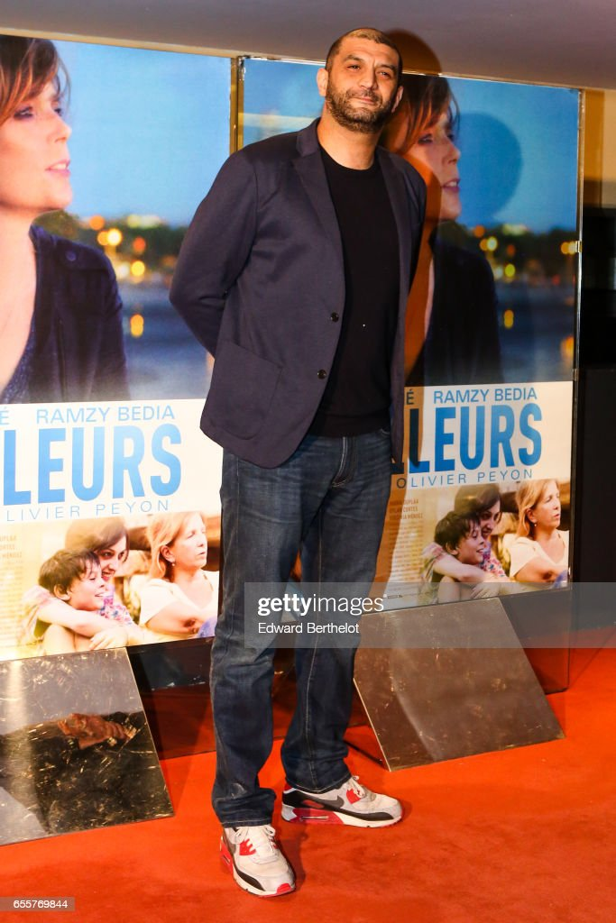 Ramzy Bedia attends the 'Une Vie Ailleurs' Paris Premiere, at UGC Cine Cite des Halles on March 20, 2017 in Paris, France.