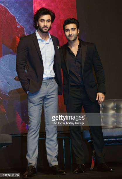 Ranbir Kapoor Anushka Sharma during the launch of YRF talentsAadar Jain and Anya Singh in Mumbai